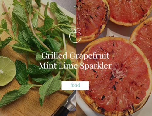 Grilled Grapefruit Mint Lime Sparkler
