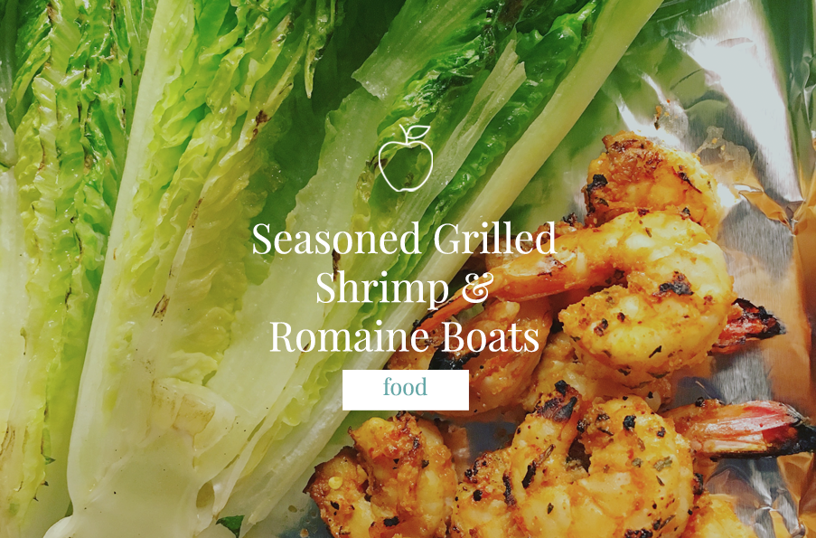Seasoned Grilled Shrimp & Romaine Boats