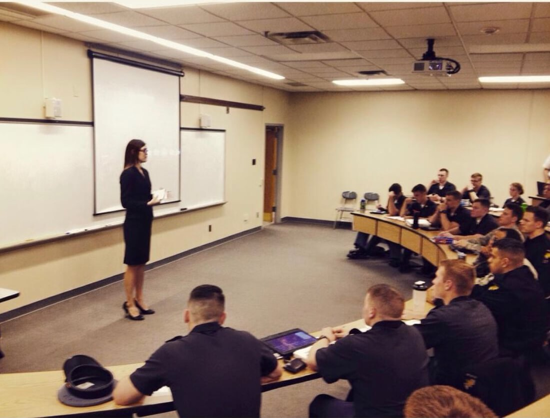 Laurie A. Watkins discusses what it's like working in the Pentagon to West Point cadets